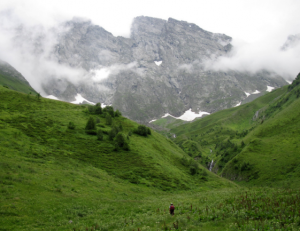 Chimghisklde in Assa Valley (Khevsureti) - with the alpine scree as the habitat of the new species.